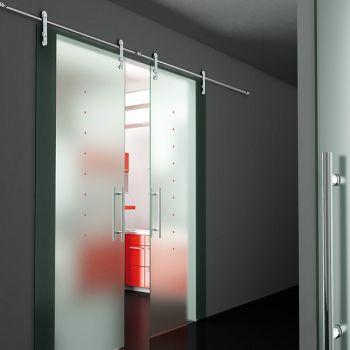 cửa trượt kính cường lực
