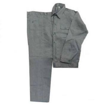 Quần áo bảo hộ lao động vải kaki dày màu ghi chì