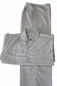 Quần áo bảo hộ lao động kaki liên doanh HQ màu ghi