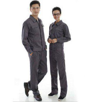 Quần áo bảo hộ lao động màu ghi xám