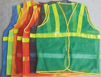 Áo bảo hộ lao động phản quang môi trường 1 sọc trước