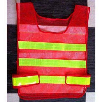 Áo bảo hộ lao động phản quang ngang lưới nhựa