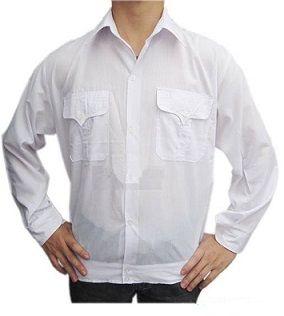 Áo bảo hộ lao động vải lon Nhật trắng Hòa Bình