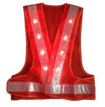 Áo bảo hộ lao động phản quang chữ A đèn LED màu cam