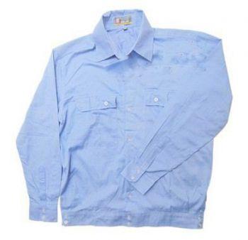 Áo bảo hộ lao động vải chéo xanh