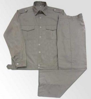 Quần áo bảo hộ lao động kaki HQ màu ghi đá