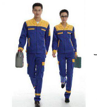 Quần áo bảo hộ lao động xanh vàng